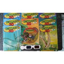 Coleção 8 Livros Dinossauros +cd Oculos 3d Frete Gratis
