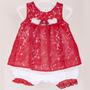 Vestido Macacão Para Bebê Menina Curto Nicole - Beth Bebê