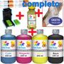 1100ml -kit Tinta Recarga Cartuchos Impressora Hp + Snap