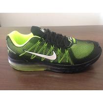 Tênis Nike Airmax Preto/ Verde Limao