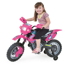 Moto Elétrica Infant Motocross - Rosa - Homeplay