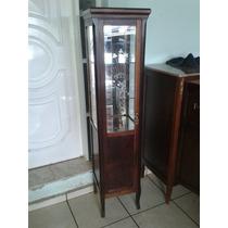 (only Wood) Cristaleira Antiga Vidros Bizotes Vidro Desenho