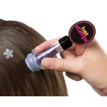Hot Stamp Hair Carimbo De Gliter Para Cabelos
