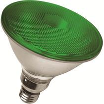 Lampada Par 38 Led 6w Bivolt Verde - Uso Externo E Interno
