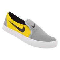 Tênis Feminino Nike Toki Slip Cor Amarelo E Cinza Cod13942