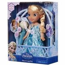 Boneca Frozen Cante Com Elsa Karaokê C Microfone 2015 Sunny