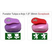 Furador Scrapbook Artesanato Flor Tulipa Anjo 38mm Eva Papel