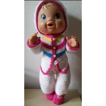 Roupinha De Crochet Colorida Para Boneca Baby Alive
