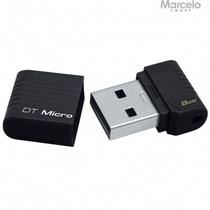 Pen Drive Datatraveler Micro 8gb Kingston Preto Original