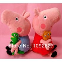 Kit C/4 Peppa Familia Personagem Pig George Porca Brinquedos