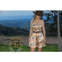 Vestido Country Tomara Que Caia Estampado Selaria Guiricema