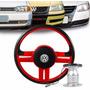 Volante Esportivo Rallye Gol 1995 A 2008 Com Cubo Vermelho