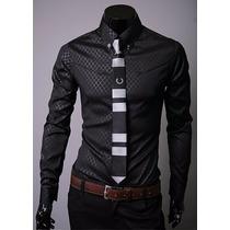 Camisa Social Slim Fit Xadrez Premium