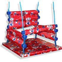 Cadeira De Balanço Para Crianças Em Madeira E Tecido
