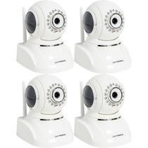 Kit 04 Camera Ip Wireless Wi Fi Visao Noturna 30mts Internet