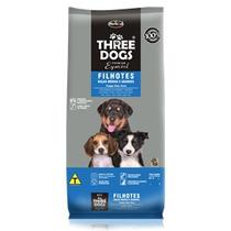 Ração Premium Especial Three Dogs Cães Filhotes Médias 8 Kg