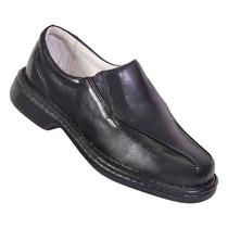 Sapato Antistress Masculino Conforto Em Couro De Carneiro