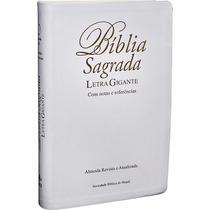 Bíblia Sagrada Evangélica Branca Casamento Dourada+ Capa