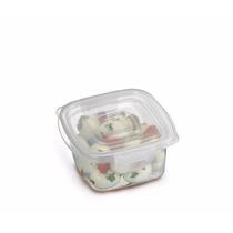 Kit C/5 Pote Quadrado C/travas 360 Ml P/alimentos Hérmetico