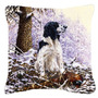 Springer Spaniel Por Michael Herring Lona Decorativa Pillow