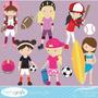 Kit Scrapbook Digital Esportes Imagens Clipart Cod 2