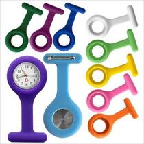 Relógio Para Jaleco Enfermagem / Medicina + 5 Capas Silicone