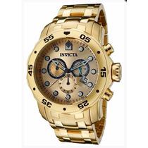 Relógio Masculino Invicta Pro Diver 0074 Banhado Ouro 18k