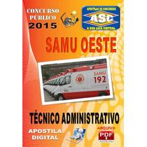 Apostila Samu Oeste Tecnico Administrativo 2015