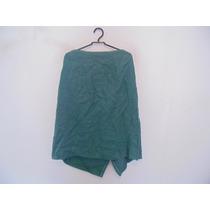 Saia Verde Linho Plus Size Cód. 772