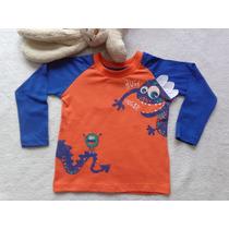 Camiseta Meia Malha Mostrinho Azul Have Fun Hf0136 Hf0137