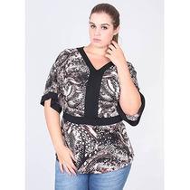Blusa Plus Size Estampada Feminina Fina Pallola - Color