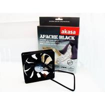 Cooler Fan Ventoinha Akasa Apache Black 12 Cm Pc Gamer