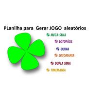 Planilha Gerar Jogos Loterias Loto Facil E Outros- Lotofacil