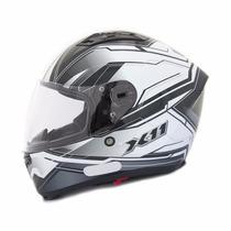 Capacete Moto X11 Impulse Com Viseira Solar Cinza Tam 62