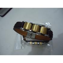 Pulseira Masculina Bracelete Aço Inox Trabalhado Nao Ouro 18