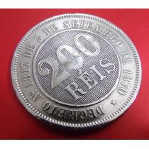 Moeda 200 Reis - De 1887-brasil -excelente Estado