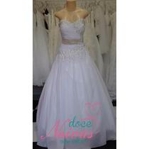 Vestido De Noiva Decote Coraçao Julia G Novo Pronta Entrega