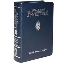 Bíblia De Estudo Pentecostal Grande 17x23,5 Luxo Azul