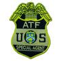 Distintivo Bordado Termocolante Atf Special Agent