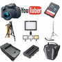 Kit Youtuber Canon Eos T5i 32gb   Tripe   Led 160 Bat E Case