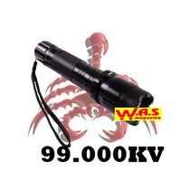 Lanterna Tática + Taser Choque 88000kv Recarregável + Forte