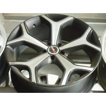 Roda 19 Tsw 5x100 Preta C\cromado Golf Audi Polo Crossfox