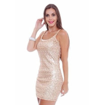 Vestido Curto Festa Balada Sexy Justo Brilho Formatura