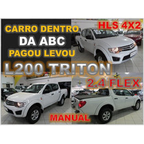 L200 Triton 2.4 Flex Cambio Manual 4x2 Ano 2015 Impecável