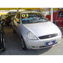 Ford Ka 1.0 2003 Prata Direção Hidraulica Novinho