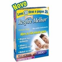 Dilatador Nasal Respire Melhor - Anti Ronco Médio 30unidades
