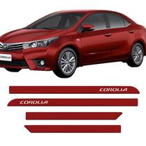 Friso Lateral Toyota Novo Corolla 2015 Vermelho Granada