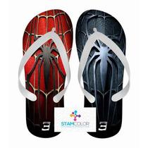 Chinelo Personalizado Super Herói Vários Temas - P12