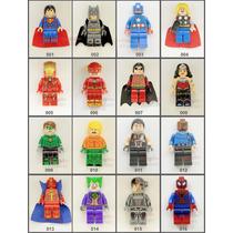 Lego Bonecos Vingadores Marvel Justiça Minecraft Star Wars