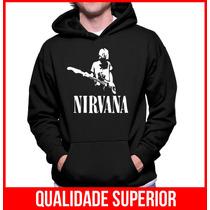 Moletom Banda Nirvana Masculino E Feminino Blusa Canguru